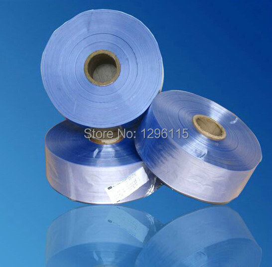 0.5kg/lot Heat shrinkable film, PVC shrink band sleeve with 3~120cm width Heat shrinkable belt  цены