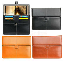 Unidopro PU Leather Briefcase for Huawei MediaPad M2 M3 Lite 10.1, Honor WaterPlay Tablet Portfolio Cover w/ Credit Cards Holder