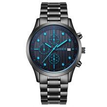 New Fashion BIDEN Top Brand Stainless Steel Waterproof Analog Quartz Watch Men Calendar Luxury Wristwatch Casual Saat
