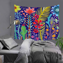 Quality printed flower painting Indian tapestry hippie mandala wall hanging Bohemian bedspread dorm decor carpet 51x60 LZJ19