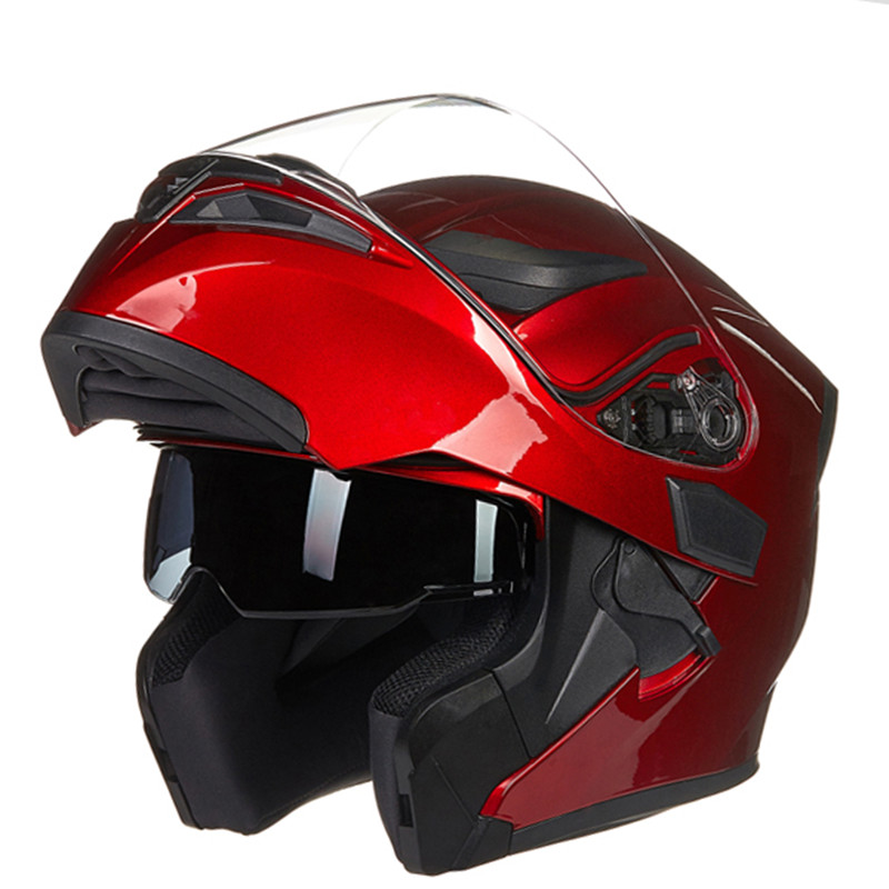 New Arrival JIEKAI 902 flip up double lens motorcycle helmet removable and washable liner Aerodynamic design modular helmet only & sons свитер