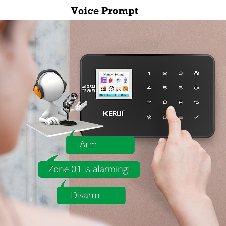 Image 3 - KERUI W18 GSM WIFI Burglar Home Security Alarm System DIY Kit APP Controller Motion Fire Smoke Detector Door Window Sensor Alarm-in Alarm System Kits from Security & Protection