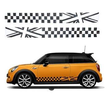 сбоку юбка стикер на дверь автомобиля талии стиль наклейка для Mini Cooper S One Jcw Countryman