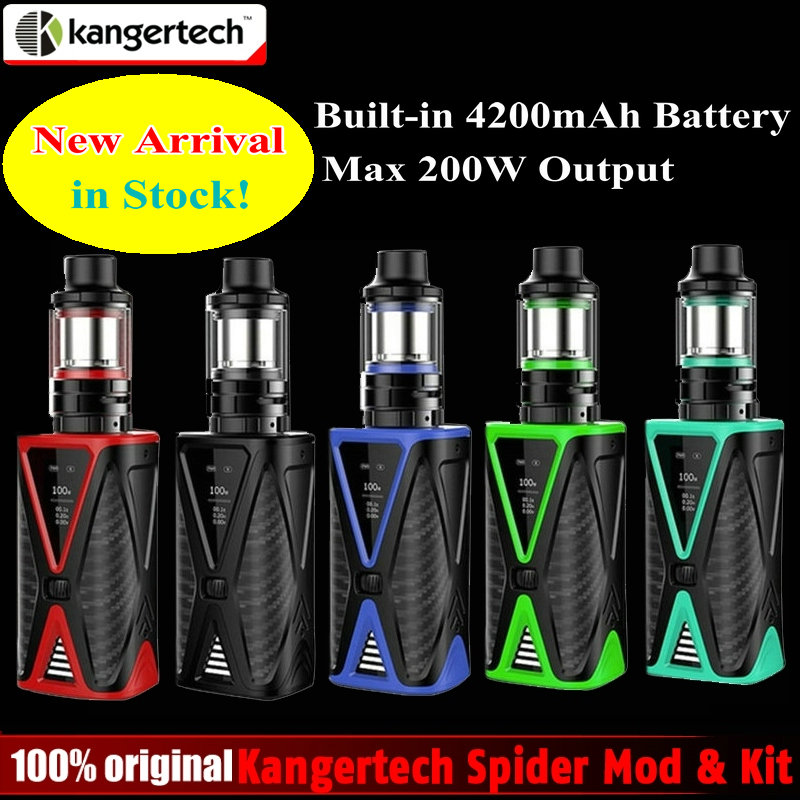 Original Kangertech Spider 200W TC Kit with Built In 4200mAh Battery 200W Box Mod & 4ml FIVE 6 Mini Tank Kanger E-cigarette Kit