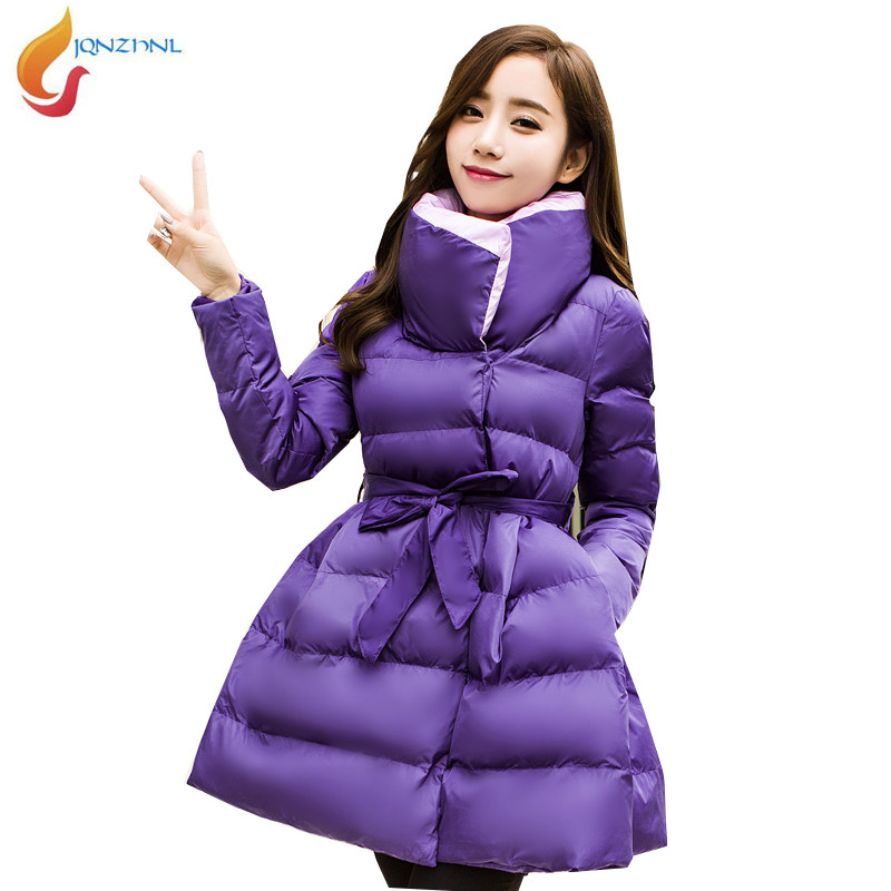 JQNZHNL 2018 Winter cotton coat women middle length plus size thick warm Slim cotton-padded jacket coat high quality women AD140 2017 middle aged winter jacket women thicken warm cotton padded slim plus size 6xl winter coat women parka high quality