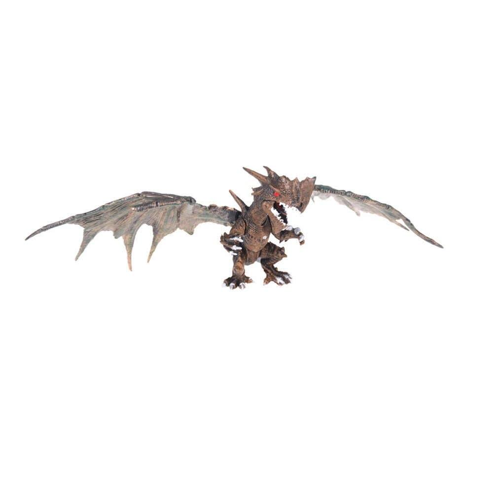DA XIN 1 pcs Clássico DIY Montar Dragões com Asas Figuras de Ação Monstro Dinossauro Jurassic Idade Crianças Educacionais brinquedo Do Bebê