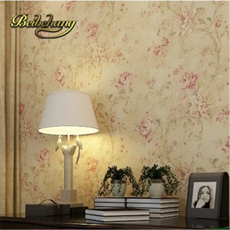 beibehang papel de parede. Paper wallpaper bedroom non-woven flower floral home decor for living room wallcovering parede flora beibehang for girls room for home decoration blue pink 3d wallpaper non woven mosaic wall paper roll flower pattern wallcovering