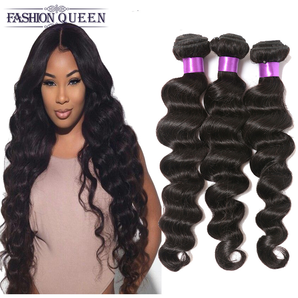 7A Peruvian Virgin Hair Loose Wave Virgin Peruvian Loose Wave 4 Bundles Loose Body Wave 6- 28 Inches Curly Weave Human Hair