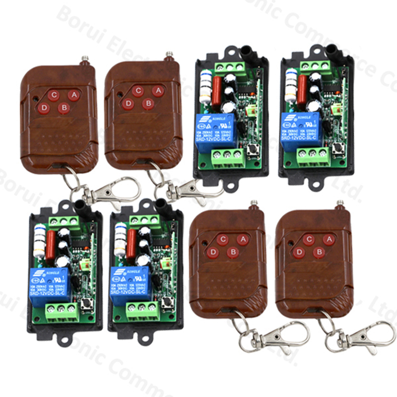 AC 220V 110V 1CH RF remote control switch wireless Radio switch  Receiver Transmitter 315MHZ / 433MHZ 220v 1ch radio wireless remote control switch 8 receiver