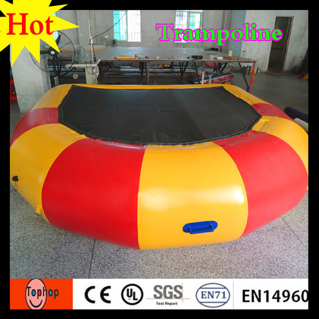 Red Yellow Wholesale Rent A Mini Inflatable Trampoline Used Swimming Pool For Kids Adults Water Games