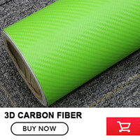 Green 3D carbon fiber vinyl film car sticker for automobile and electronics with Air Bubble Free For Car Wrap