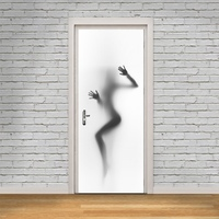 3D Abstract Female Poster PVC Waterproof Assembly Door Stickers Creative DIY Home Decoration