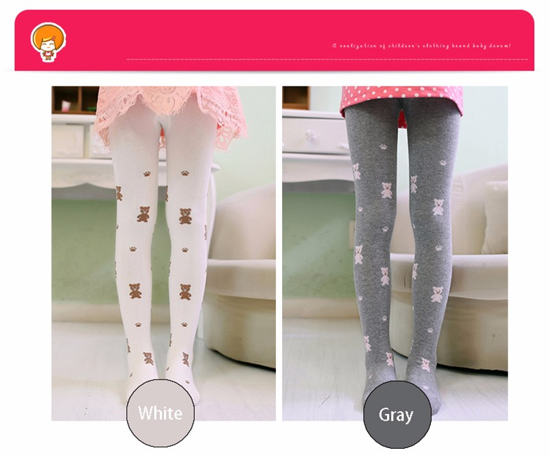 Teenage Girl Cute Color Stretch Comfortable Pantyhose (11)