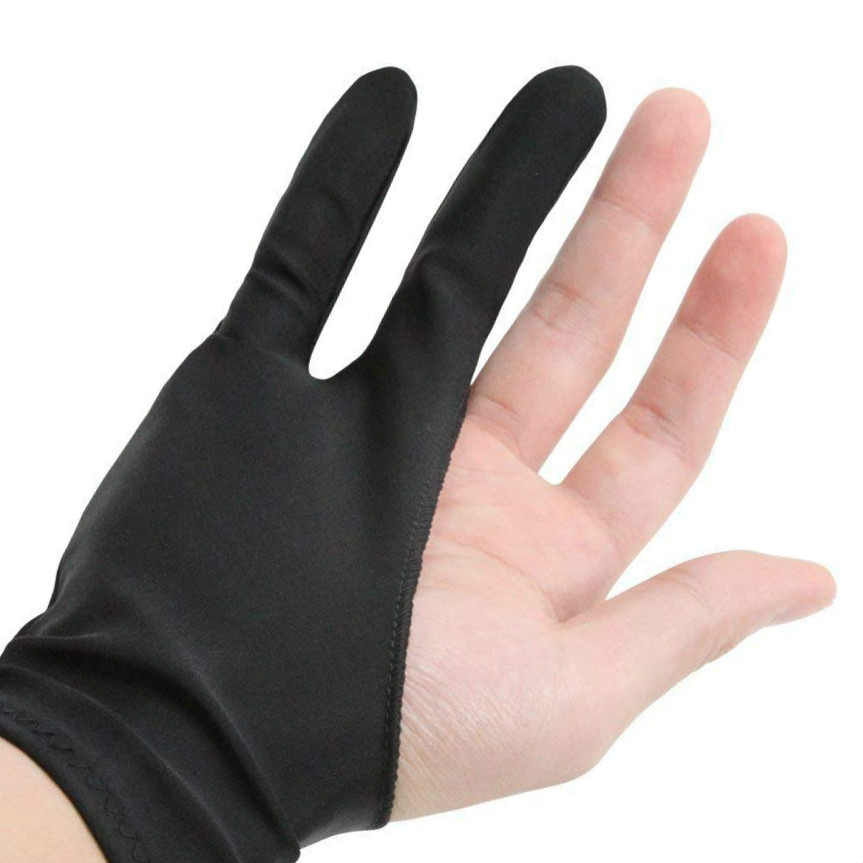 1 Pcs Art Finger Glove For Drawing Tablets Anti-fouling Lycra Glove Artist Drawing Glove For Graphics Tablet Left