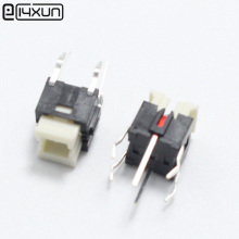 2pcs 6*6*7mm Tactile Tact Mini Push Button Switch 6x6x7mm Micro Switch with Red Light for LED