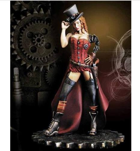 1/24 75mm Fantasy Steampunk Deputy Betty With Base   Toy Resin Model Miniature Kit Unassembly Unpainted