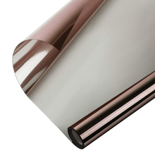 40*200 cm Window Film Privacy One Way Mirror Glass Tint UV Blocking Heat Control Self-adhesive Screen Stickers Brown-Silver