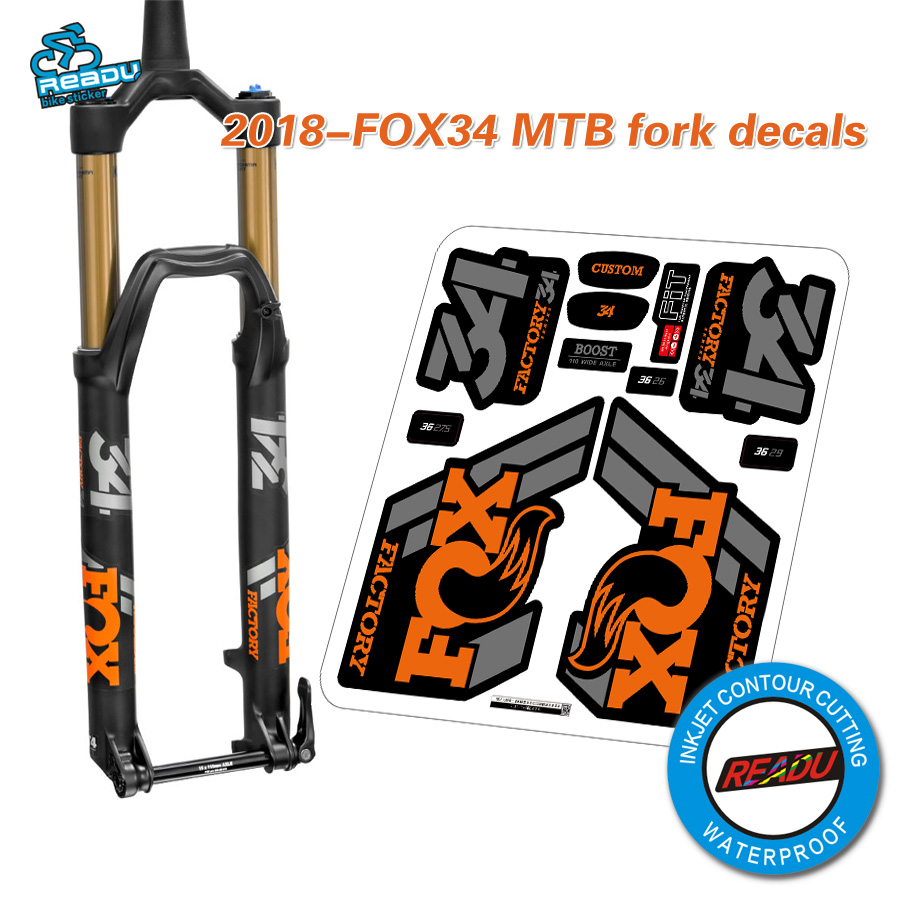 2018 fox34 mountain bike front fork stickers bicycle fox 34 front fork decals
