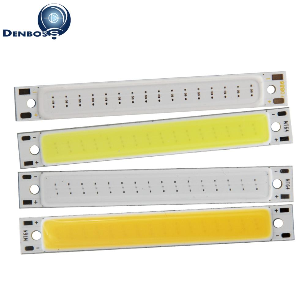 big promotion manufacturer 60x8mm LED COB Strip for work lamp 1W 2V 3.7V DC Warm White Blue Red COB LED source for DIY lamp ...