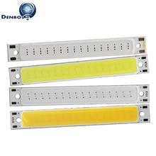 Купить с кэшбэком big promotion manufacturer 60x8mm LED COB Strip for work lamp 1.5W 2V 3.7V DC Warm White Blue Red COB LED source for DIY lamp