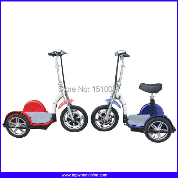 Tp012d big rear wheel 3 wheels electric bike scooter adult for 3 wheel motor scooters for adults