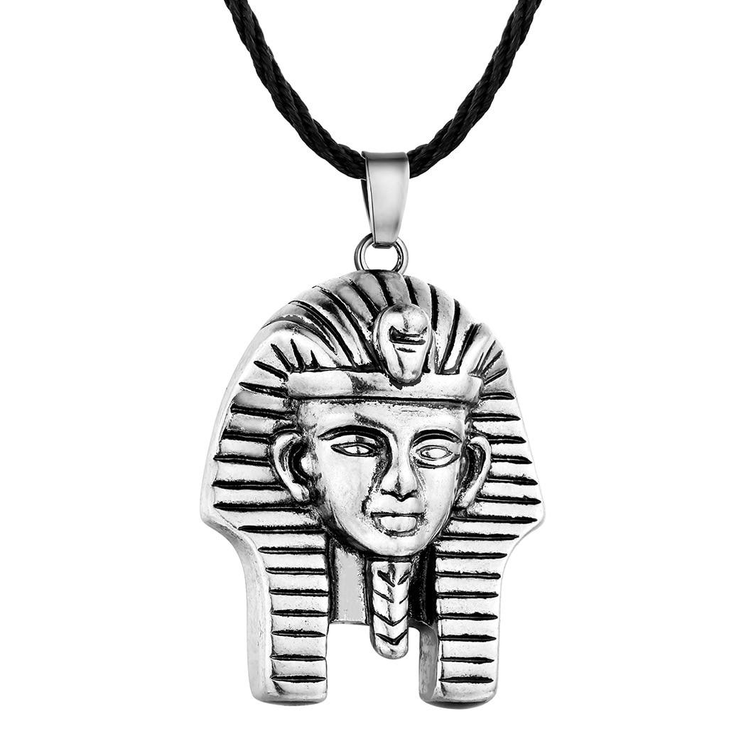 24 Pcs Lot The Pharaoh Pattern Ancient Egypt Goddess Portrait Wild Tide Necklace Retro Slavic Antique