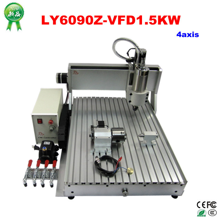 Cost-effective 4 axis cnc router 6090 1.5KW (1)