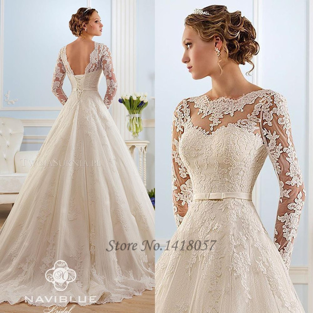 New White Lace Vintage Wedding Dress 2015 Hot Sale Sweetangel Long ...
