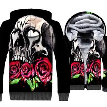 2018 Autumn Winter Sweatshirts For Men 3D Printed SKULL Rose Flower Funny Hoodie Harajuku Mens Sweatshirt Hip Hop Tops Jackets