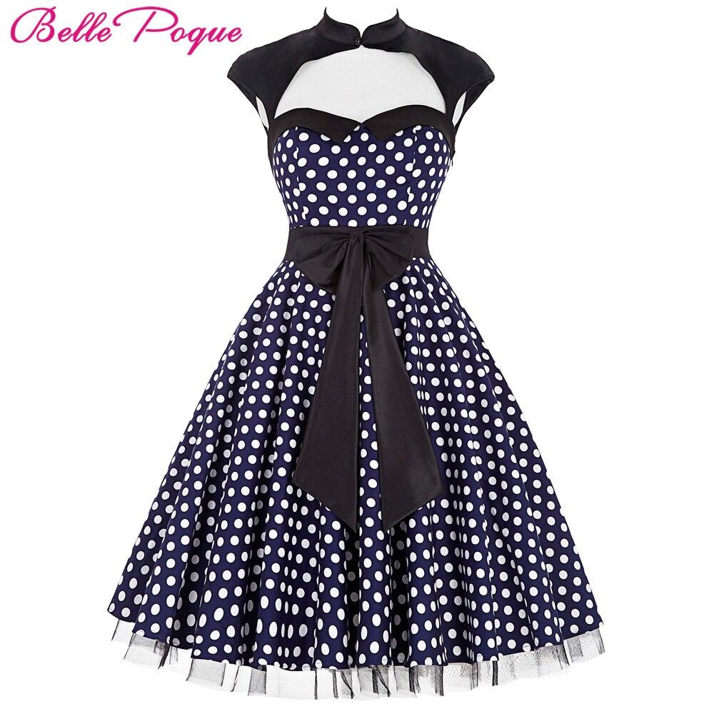 Belle poque verano 50 s lunares Retro Vintage pinup vestido grande ...