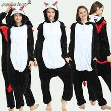 Autumn winter big bad Wolf pajamas for Unisex couples Cosplay animal coral fleece quality sleeping bag cartoon