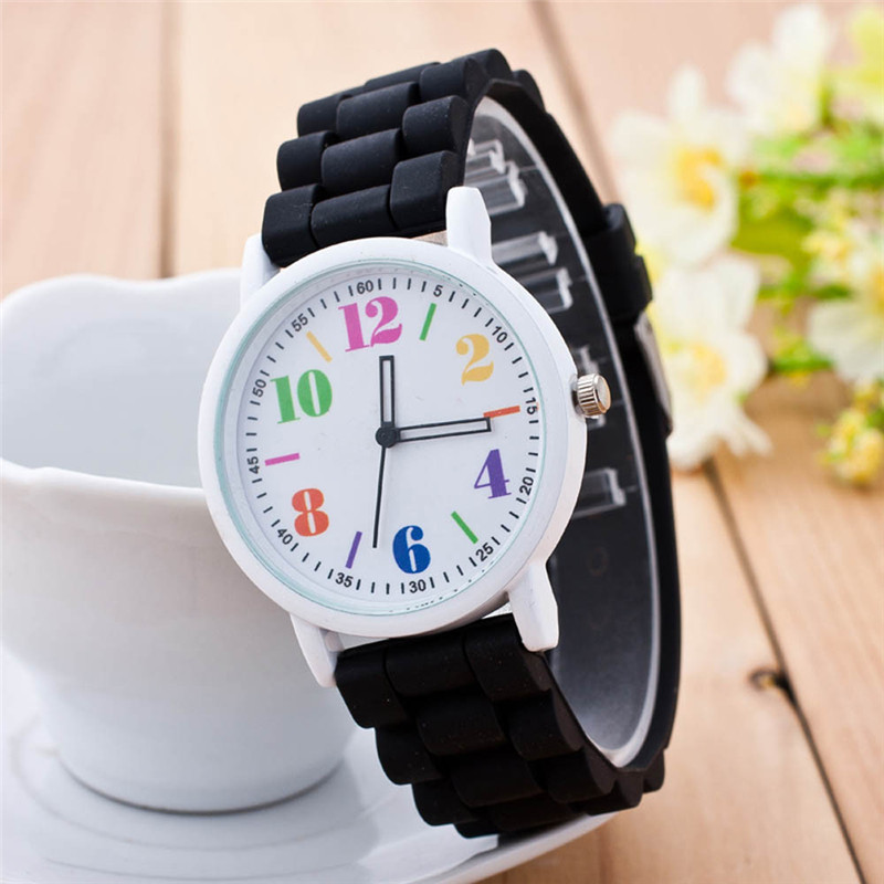 Horloge Dames  Simple Lovely Geneva Brand Roman Numeral Women Quartz Wrist Watch Digital Minimalism Clock Zegarki Damskie Fi