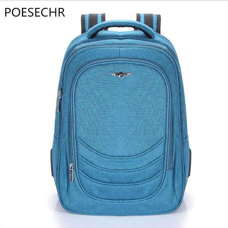 POESECHR NEW School Bags Backpack for Teenager Boys High School College Backpack Schoolbag