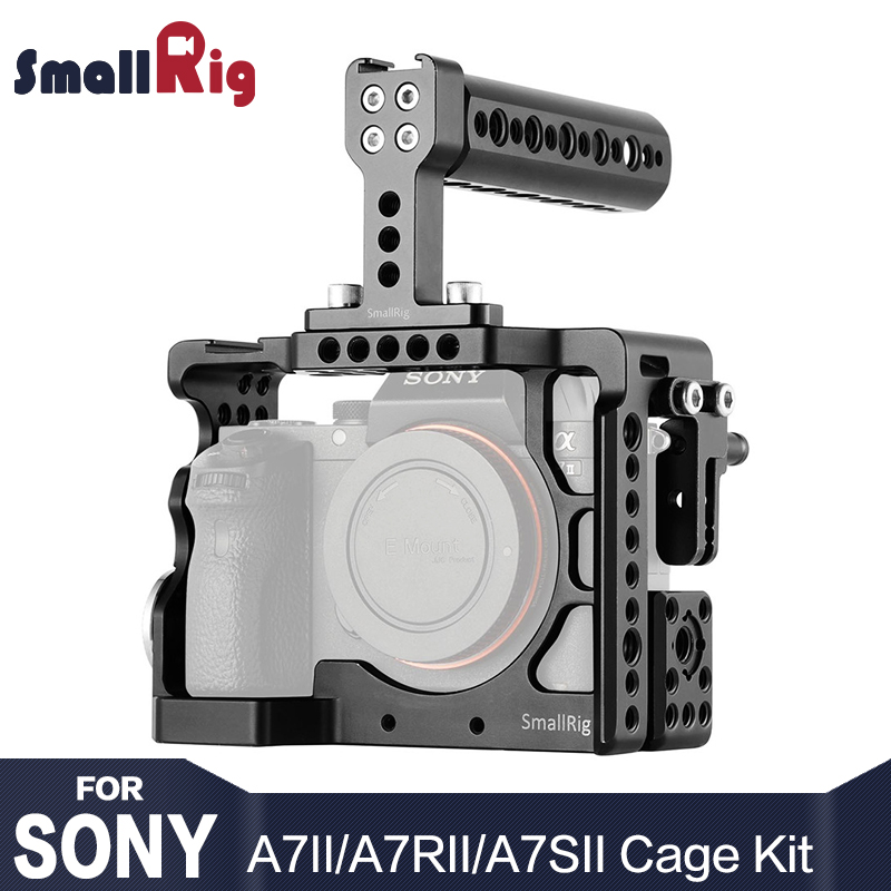 SmallRig Camera Cage Kit For Sony A7 II/ A7R II/ A7S II With Top Handle Rossette Mount 2014 kitrcp268888gyuns03008 value kit rubbermaid slim jim handle top rcp268888gy and unisan plunger for drains or toilets uns03008