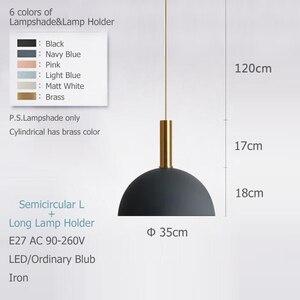 Image 2 - الشمال loft بسيطة قلادة أضواء E27 LED الحديثة الإبداعية مصباح معلق تصميم DIY بها بنفسك لغرفة النوم غرفة المعيشة المطبخ مطعم