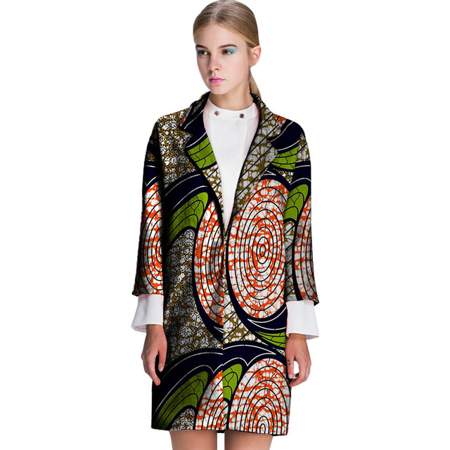 974549561a1c4 Fashion women trench coat african print fashion design overcoats dashiki  ladies long suit jacket tailor made africa outfits