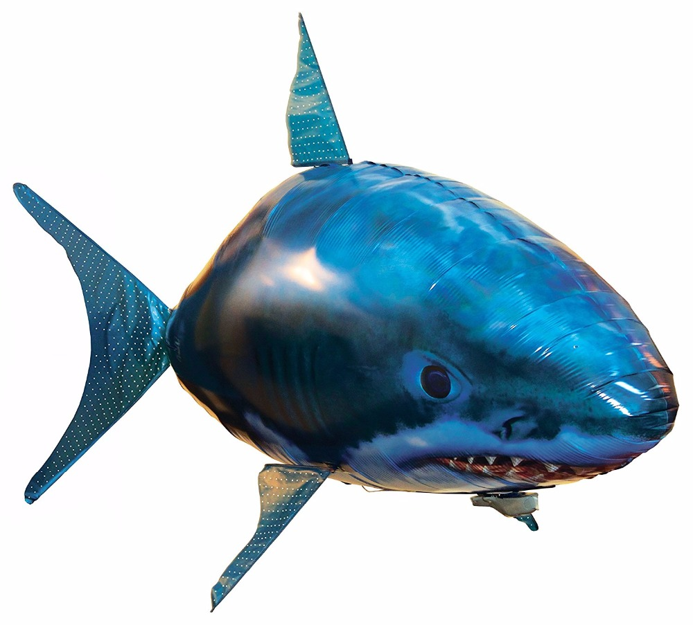 Remote control flying air shark toy flying clown fish toy for Remote control flying fish