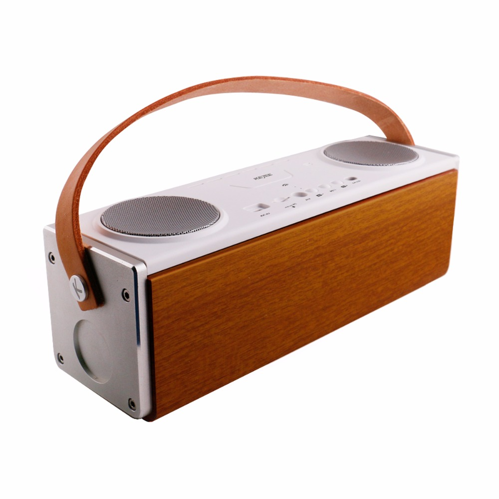 Bluetooth Speaker UN22 Wooden Mobile Wireless Bluetooth Stereo Speaker Portable Speaker Bluetooth 4.1 Hi-Fi Surround Dual Stereo wireless bluetooth speaker led audio portable mini subwoofer