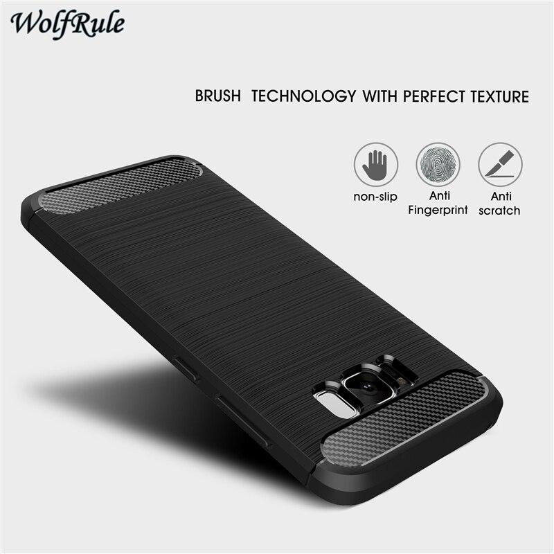 Para a Caixa Do Telefone Samsung Galaxy S8 Caso 5.8 ''TPU À Prova de Choque Caso Escovado Por Samsung Galaxy S8 Capa Para Samsung s8 G950