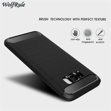 hot deal buy case for samsung galaxy s8 cover 5.8'' shockproof silicone brushed style for samsung galaxy s8 case for samsung s8 phone fundas