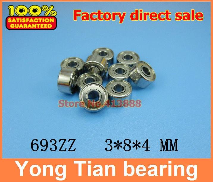 50 шт./лот, высокое качество, ABEC-5 Z3V3, тонкие стенки, глубокий шаровой подшипник 693ZZ 3*8*4 мм