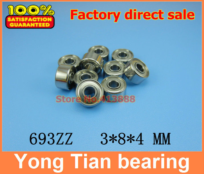 50pcs/lot high quality ABEC-5 Z3V3 thin wall deep groove ball bearing 693ZZ 3*8*4 mm 1pcs flange bearing thin wall deep groove ball bearings f692zz 2 6 7 5 3 0 8 mm