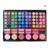 Portátil de 78 colores de sombra de ojos cosméticos paleta rostro colorete brillo de labios corrector maquillaje herramientas con mirror + 2 unids sombra de ojos palos