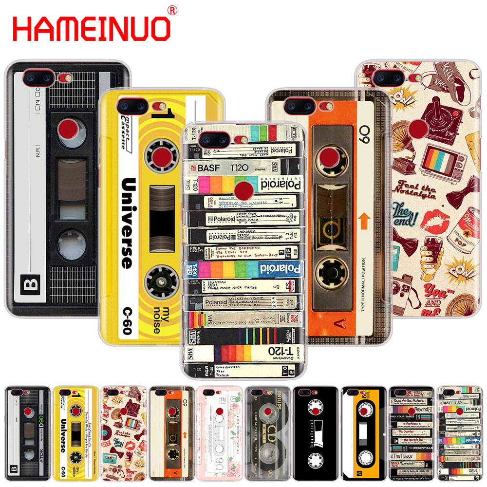 HAMEINUO RETRO CLASSIC CASSETTE Unique Design <font><b>cover</b></font> <font><b>phone</b></font> case for Oneplus <font><b>one</b></font> <font><b>plus</b></font> <font><b>6</b></font> 5T 5 3 3t 2 X A3000 A5000 image