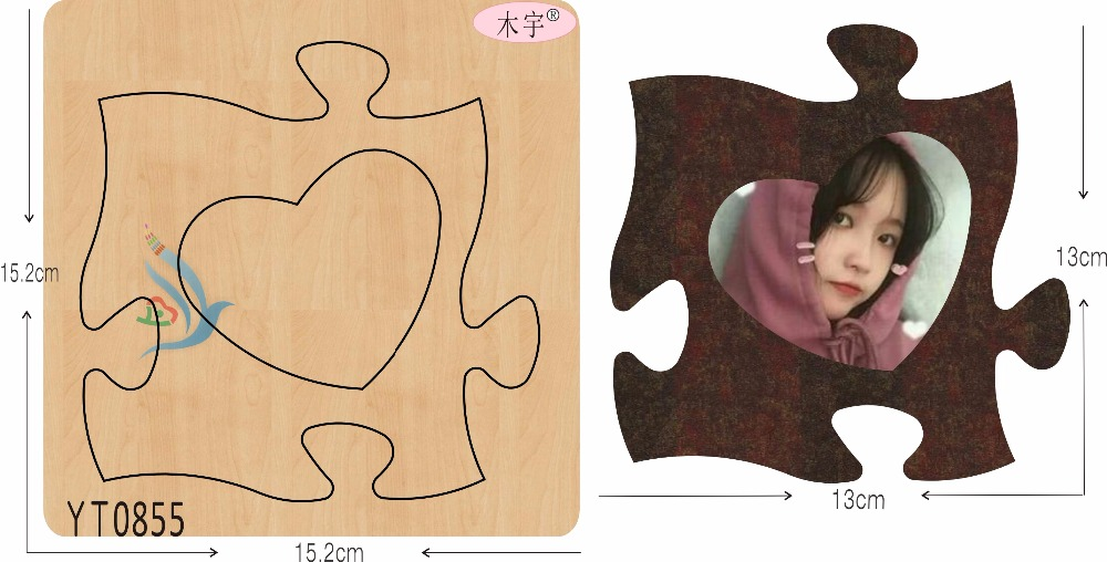 Puzzle Love Frame YT0855 DIY new wooden mould cutting dies for scrapbooking Thickness 15 8mm MY