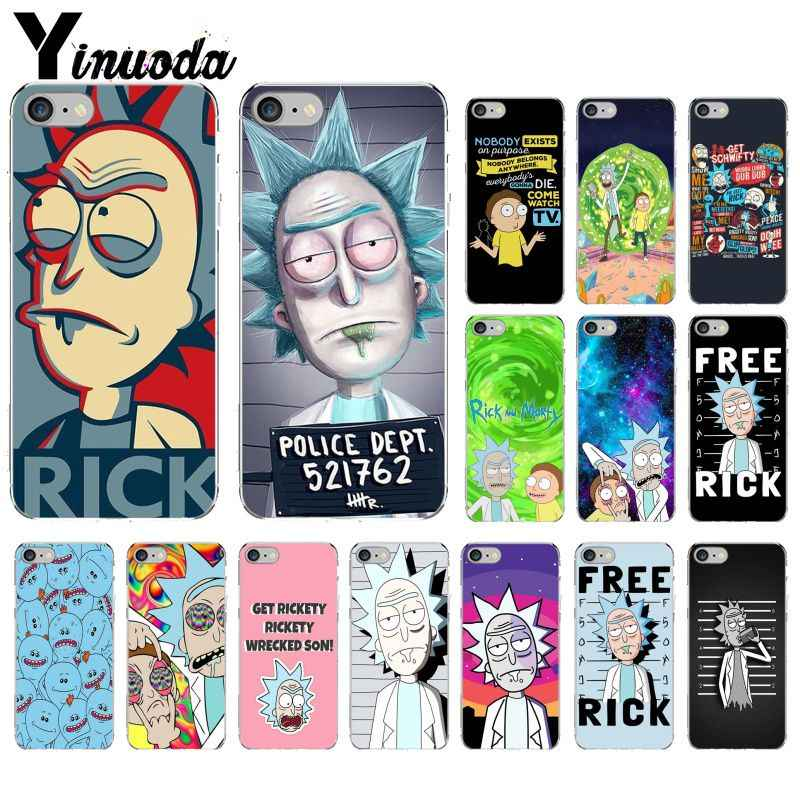 Yinuoda Rick dan Morty Smart Cover Transparan Soft Shell Ponsel Case untuk iPhone 8 7 6 6S PLUS 5 5S SE XR X XS Max Coque Shell