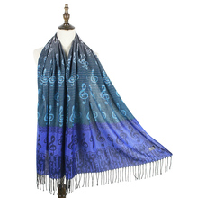 2015 Free Shipping Fringe Musical Note Design Fashion Pashmina Scarf