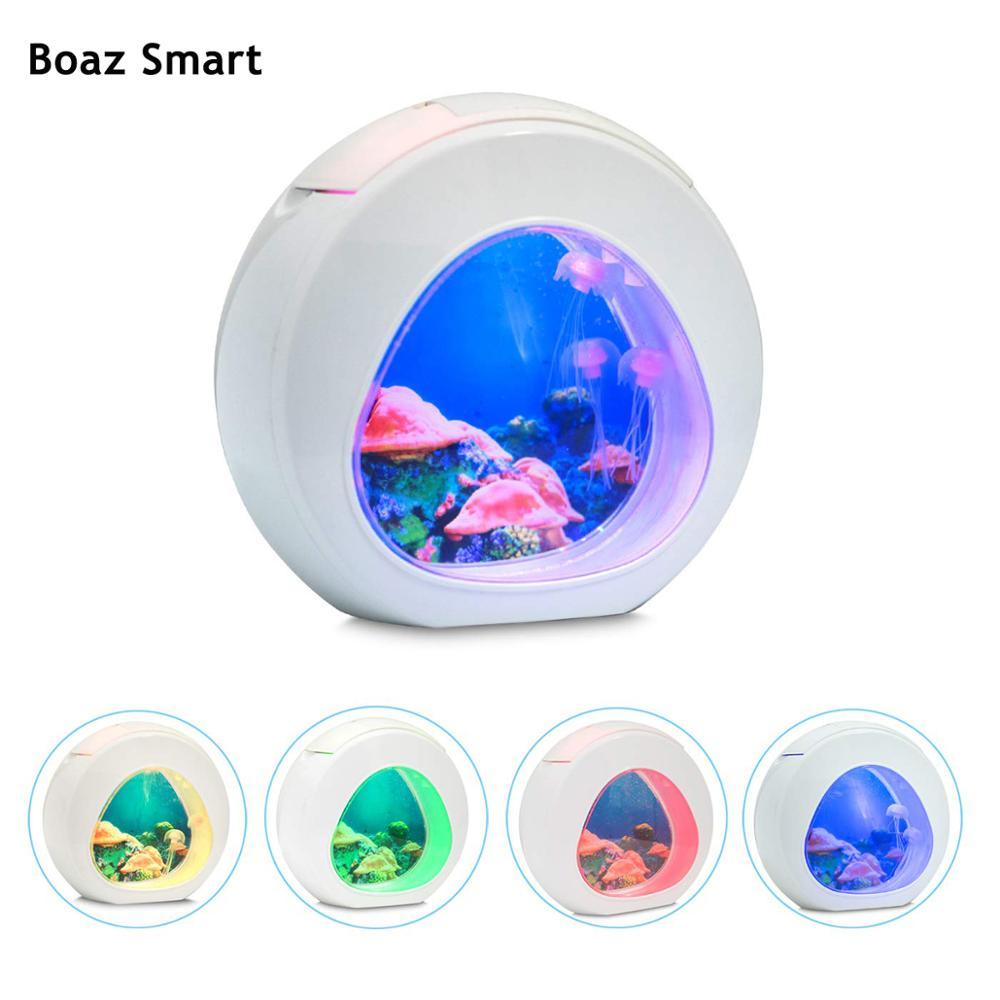 Nouveauté méduse LED veilleuse cadeau lampe de Table pour enfants réservoir Aquarium mer monde humeur veilleuse maison bureau décor lampe magique