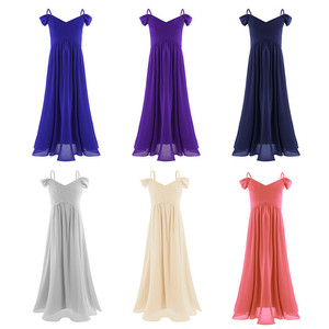 Image 2 - iEFiEL Vestido Infant Kids Chiffon Flower Girl Dress Pageant Princess Party Ball Gown Dress for Wedding Prom Formal Occassion