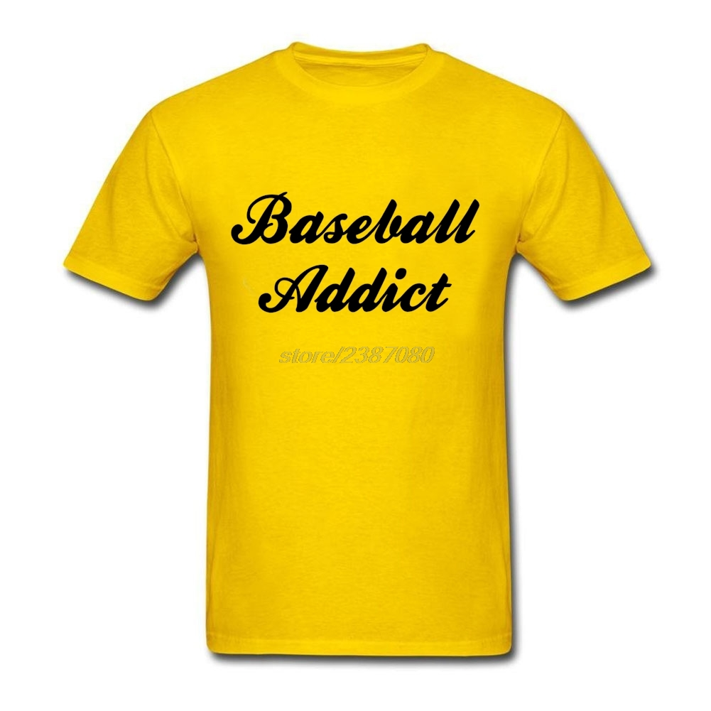 Desain t shirt kerah - 2017 Baru Keren Desain Kemeja Pria Kerah Bulat T Shirt 2017 Baru Baseball Addict Pria